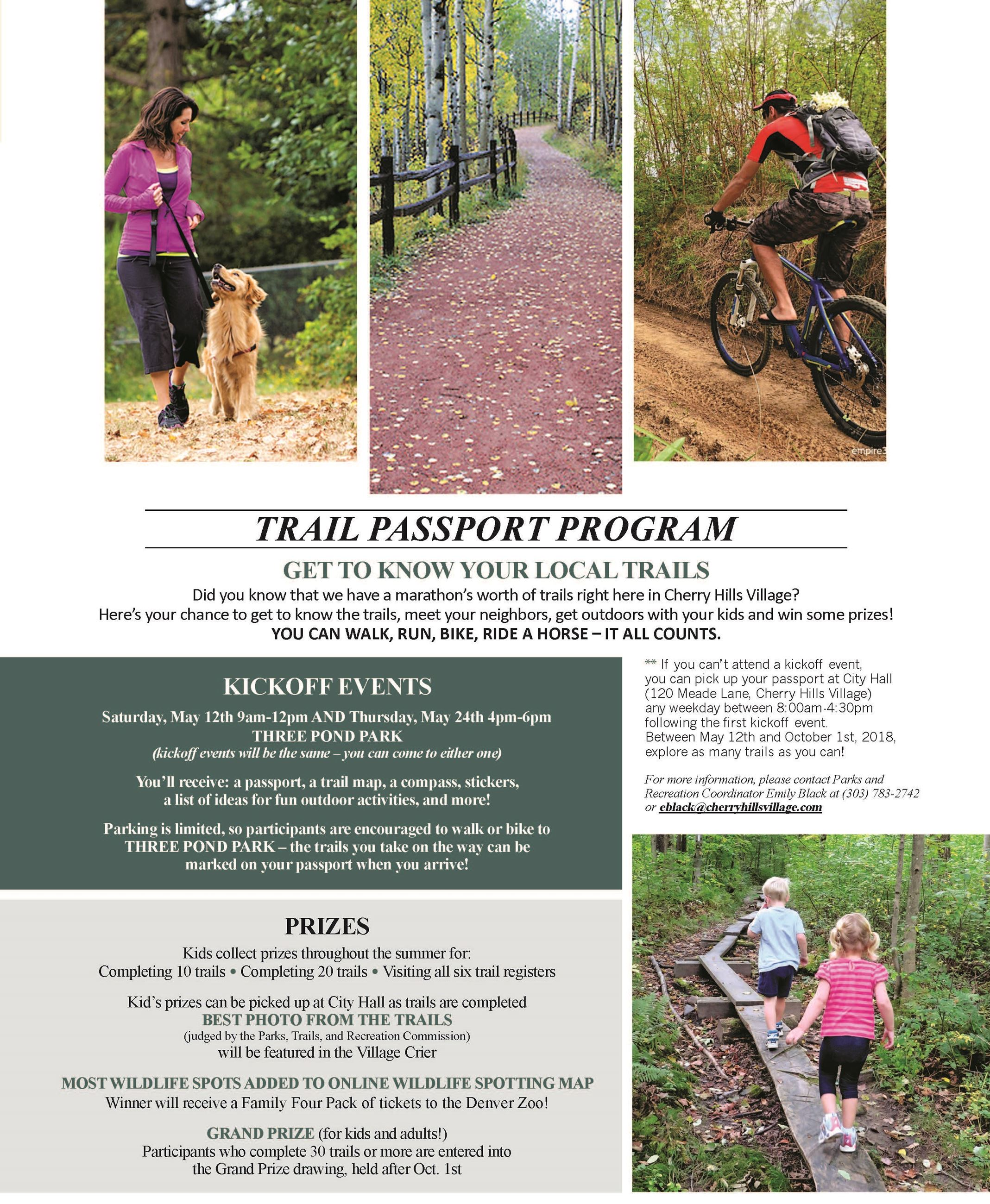 Final Trail Passport Program flyer