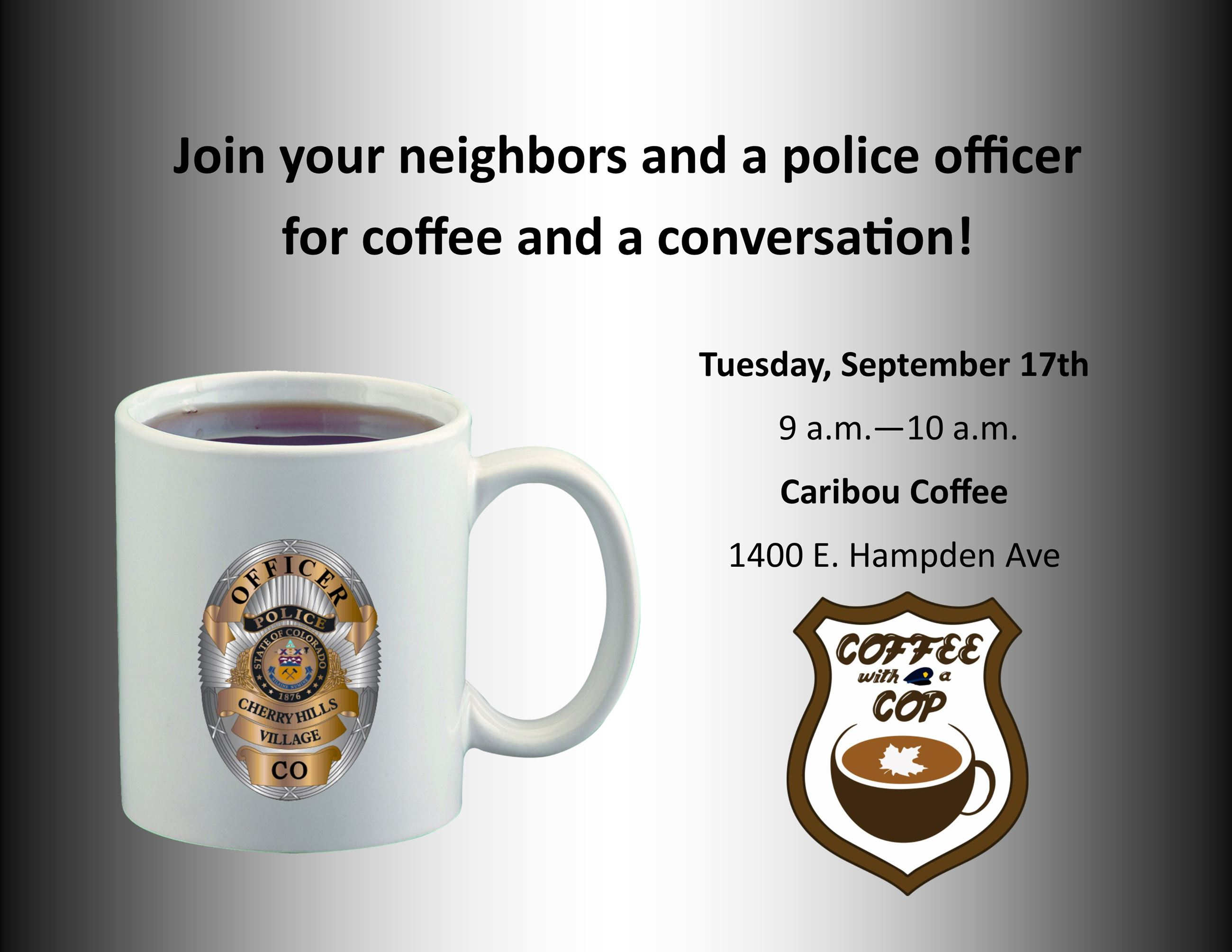 Coffee with a Cop Sep 17th 2019