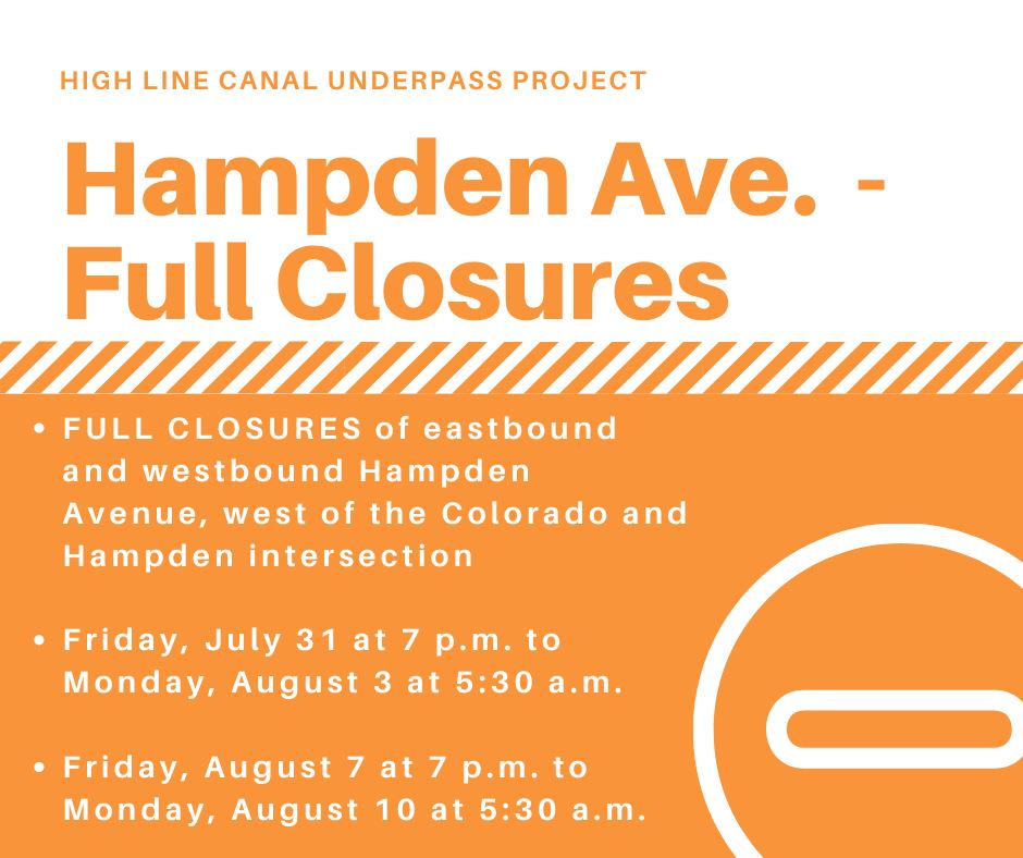Hampden Ave Closure