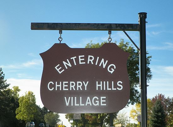 Cherry Hills Village Hanging Sign